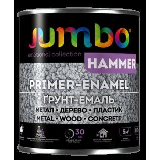 Эмаль Jumbo HAMMER Молотковая 2в1 Черный 0,7 л