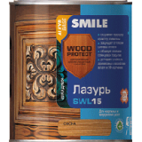 Лазурь SMILE Wood Protect SWL-15, Цвет: Дуб 0,75 л