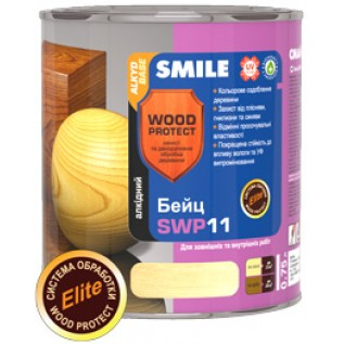 Бейц SMILE Wood Protect SWP-11, Elite Цвет: Тик 0,75 л